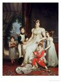 Caroline Bonaparte and Her Children Impression giclée par Francois Gerard