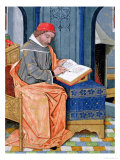 "Matthaeus Platearius Writing ""The Book of Simple Medicines"", circa 1470 Giclee Print by Robinet Testard"