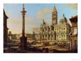 Santa Maria Maggiore, Rome, 1739 Giclee Print by Bernardo Bellotto
