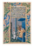 "David Sending Uriah to His Death, from the ""Book of Hours of Louis D'Orleans"", 1469 Giclee Print by Jean Colombe"
