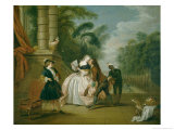 The Kiss Giclee Print by Jean-Baptiste Joseph Pater