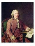 Portrait of Carl Von Linnaeus Giclee Print by Alexander Roslin