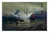 Cardiff Docks, 1896 Giclee Print by Lionel Walden