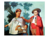 A Spaniard and His Mexican Indian Wife, Illustration of Mixed Race Marriages in Mexico Giclee Print