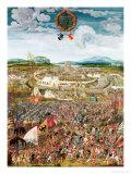 Alesia Besieged by Julius Caesar Premium Giclee Print by Melchior Feselen
