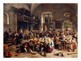 Feast in an Inn Giclee Print by Jan Havicksz. Steen