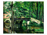 The Bridge at Maincy, or the Bridge at Mennecy, or the Little Bridge, circa 1879 Giclee Print by Paul Cézanne
