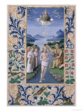 "Baptism of Christ, from the ""Book of Hours of Louis D'Orleans"", 1469 Giclee Print by Jean Colombe"