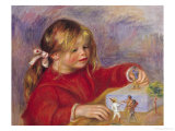 Claude Renoir at Play, 1905 Giclee Print by Pierre-Auguste Renoir
