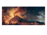 The Eruption of Mount Vesuvius in 1771 Giclee Print by Pierre Jacques Volaire