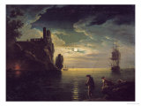 Evening Seascape Giclee Print by Claude Joseph Vernet