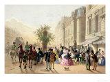 "Boulevard des Italiens, from ""Physionomies de Paris"", 1856 Giclee Print by Eugene Von Guerard"