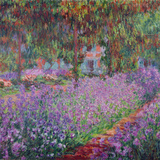 The Artist's Garden At Giverny, c.1900 Premium Giclee Print by Claude Monet