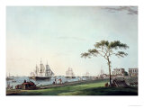 "View Taken on the Esplanade, Calcutta, Plate I from ""Oriental Scenery"", Published 1797 Giclee Print by Thomas Daniell"