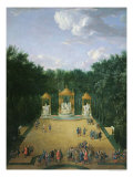 The Groves of the Baths of Apollo in the Gardens of Versailles, 1713 Giclee Print by Pierre-Denis Martin