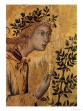 The Annunciation with St. Margaret and St. Asano, Detail of the Archangel Gabriel, 1333 Giclée-tryk af Simone Martini