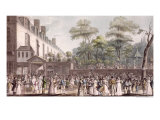 Promenade in the Turkish Garden, Boulevard Du Temple, 1810 Giclee Print by Jean Pierre Marie Jazet