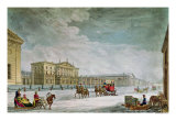 View of the Imperial Bank and the Shops at St. Petersburg Impressão giclée por Mornay