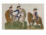 Army Commander and an Officer of the Mounted Police Giclee Print by Le Sueur Brothers