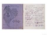 1st Page of Rasputin's Journal, 1910 Giclee Print