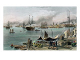 Port of New Orleans Reproduction proc&#233;d&#233; gicl&#233;e par Alfred Rudolf Waud