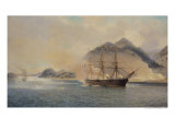 Naval Battle of the Strait of Shimonoseki, 20th July 1863, 1865 Giclee Print by Jean Baptiste Henri Durand-Brager