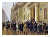 Leaving the Lycee Condorcet, 1903 Giclee Print by Jean Béraud