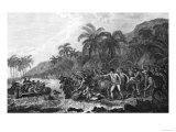 The Death of Captain James Cook 14th February 1779 Giclee Print by  Benard