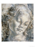 Head of Angel Gicle-tryk af Andrea del Verrocchio