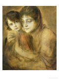 Mother and Child, 1893 Giclee Print by Franz Seraph von Lenbach