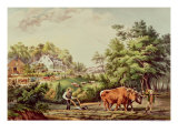 American Farm Scenes, Pub. by Currier and Ives, New York Giclee Print by Frances Flora Bond Palmer