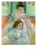 Mother and Child Giclee Print by Mary Cassatt
