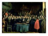 The Swearing of the Oath of Ratification of the Treaty of Munster, 15th May 1648, circa 1837 Giclee Print by Claude Jacquand