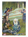 The Seven Dwarves Mourning Snow White, 1911 Giclee Print