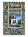 "St. Veronica, from the ""Book of Hours of Louis D'Orleans"", 1469 Giclee Print by Jean Colombe"