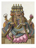 "Brahma, Hindu God of Creation, from ""Voyage aux Indes et a La Chine"" Giclee Print by Pierre Sonnerat"