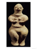 Statue of a Goddess, 6th Millennium BC Giclee Print by  Mesopotamian