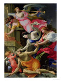Time Vanquished by Love, Venus and Hope, circa 1645-46 Giclée-Druck von Simon Vouet