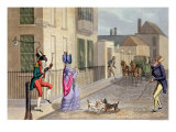 "The Unpleasant Rencontre, from ""Fashionable Bores, or Coolers in High Life, by Peter Quiz"", 1824 Giclee Print by Daniel Thomas Egerton"