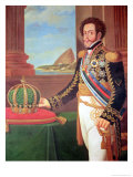 Pedro I Emperor of Brazil, 1825 Giclee Print by Henrique Jose Da Silva
