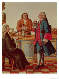 Venetian Noblemen in a Cafe Reproduction proc&#233;d&#233; gicl&#233;e par Jan van Grevenbroeck