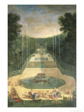The Groves of Versaille, View of the Three Fountains with Venus and Cherubs, 1688 Giclee Print by Jean Cotelle the Younger