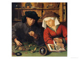 The Money Lender and His Wife, 1514 Giclée-Druck von Quentin Metsys