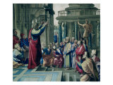 St. Paul Preaching at the Areopagus, from a Series Depicting the Acts of the Apostles Reproduction proc&#233;d&#233; gicl&#233;e par Raphael 