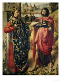 The Parlement of Paris Altarpiece, Detail of St. Louis and St. John the Baptist Premium Giclee Print