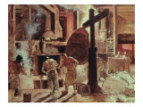 The Steelworks Giclee Print by Constantin Meunier
