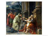Belisarius Begging for Alms, 1781 Gicléetryck av Jacques-Louis David