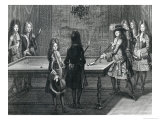 Louis XIV Playing Billiards with Philippe I Duke of Orleans, the Count of Toulouse Reproduction procédé giclée par Antoine Trouvain