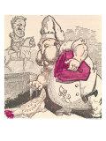 Le Poule au Pot, Caricature of Henri Charles Ferdinand Marie Dieudonne Count of Chambord Giclee Print by Alfred Le Petit