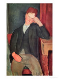 The Young Apprentice, circa 1917 Giclee Print by Amedeo Modigliani